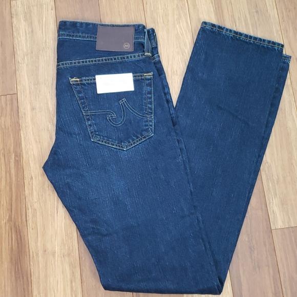 NWT MEN/'S AG ADRIANO GOLDSCHMIED JEANS Size 33 x 34 Matchbox Slim Straight $245